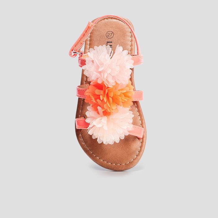 Sandales à froufrous Liberto fille orange corail