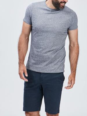 T shirt manches courtes gris fonce homme