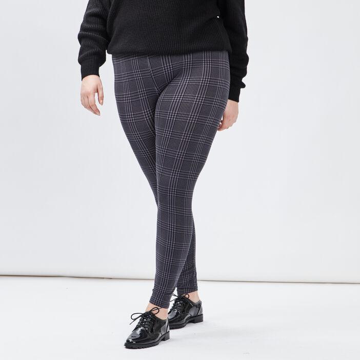 Pantalon legging grande taille femme grande taille gris foncé