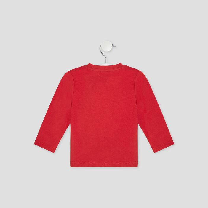 T-shirt manches longues Creeks bébé garçon rouge