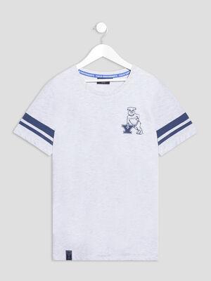 T shirt manches courtes Yale gris clair garcon