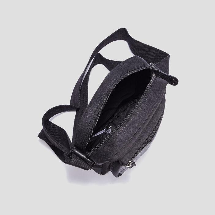 Sacoche zippée homme noir