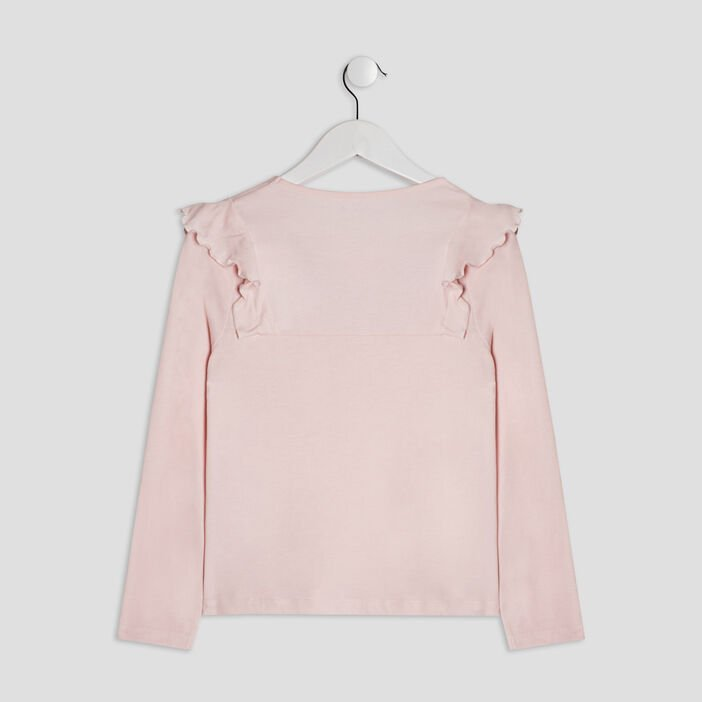 T-shirt manches longues Creeks fille rose