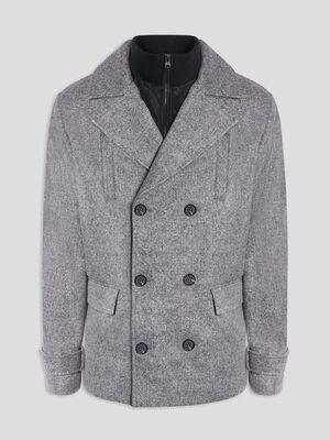 Manteau parka gris homme