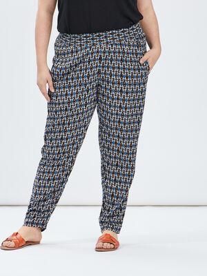 Pantalon droit fluide multicolore femmegt