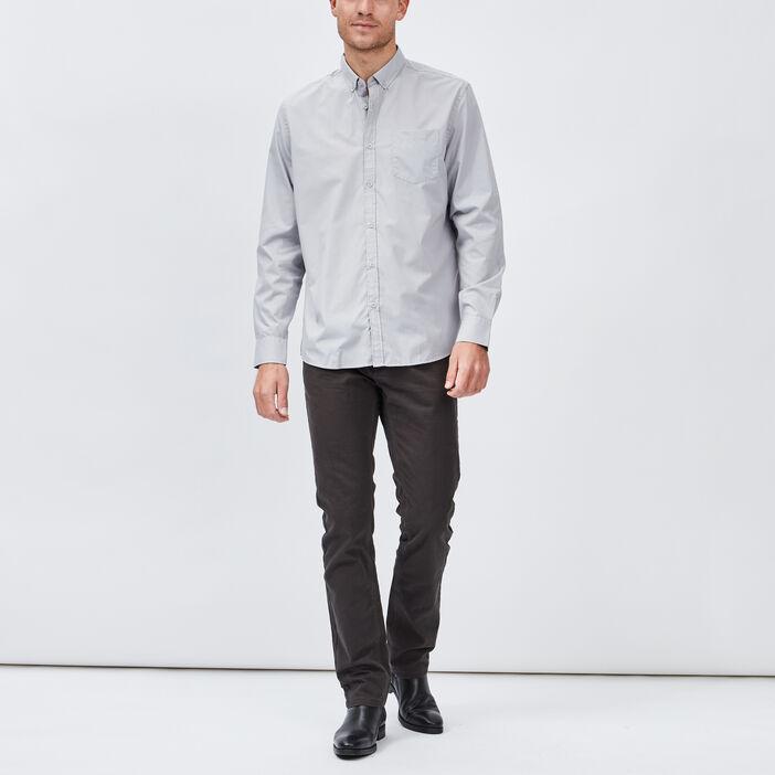 Chemise manches longues homme gris