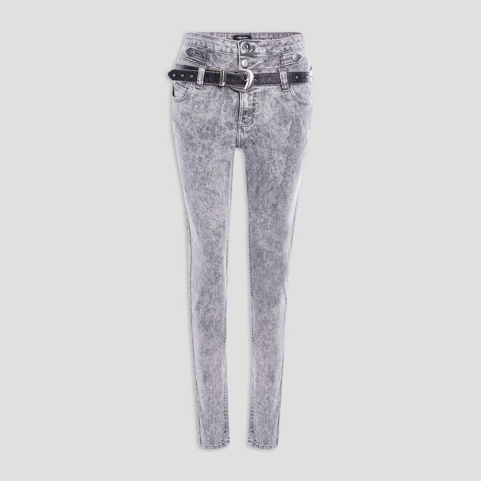 Jeans skinny Mosquitos femme gris clair