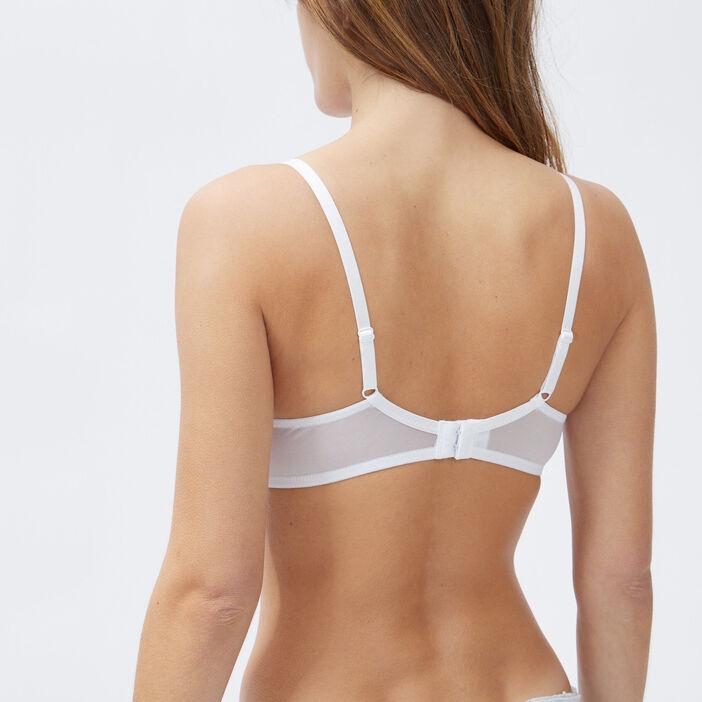 Soutien-gorge bandeau femme blanc