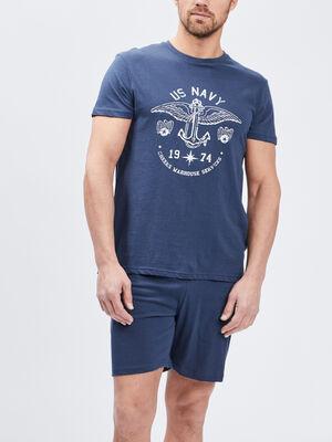 Pyjama 2 pieces Creeks bleu marine homme