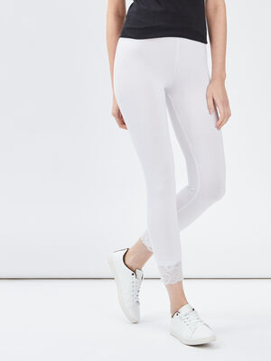 Legging 78eme avec dentelle blanc femme