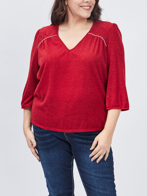 T shirt grande taille rouge femmegt