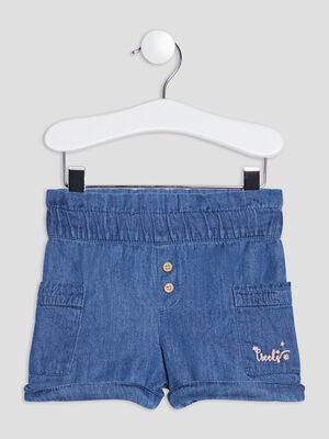 Short droit en jean Creeks denim double stone bebef
