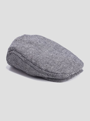 Casquette anglaise gris homme