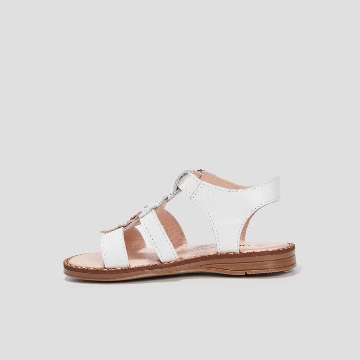 Sandales plates fille blanc