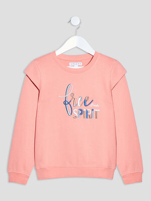 Sweat brode Creeks rose corail fille