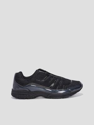 Baskets plates running noir homme