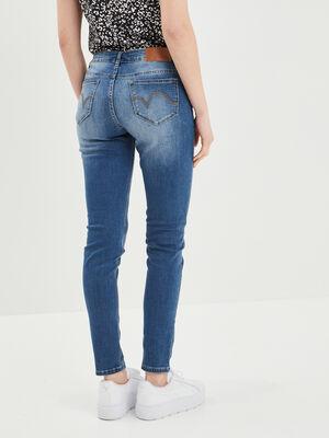 Jeans skinny taille basse denim stone femme