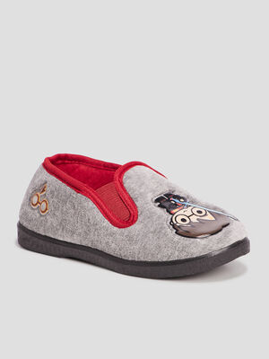 Chaussons Harry Potter gris garcon