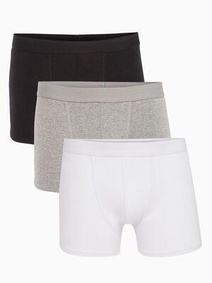 Lot de 3 boxers coton blanc homme