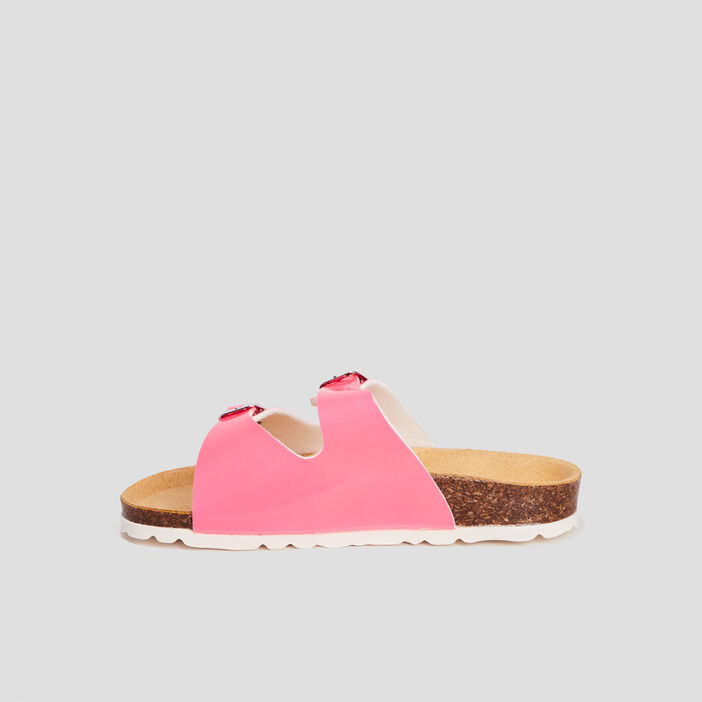 Mules plates fille rose