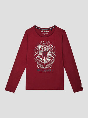 T shirt Harry Potter bordeaux fille