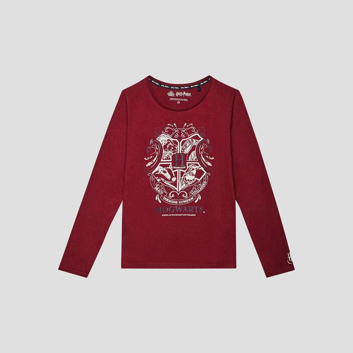 T-shirt Harry Potter fille bordeaux