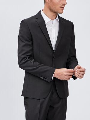 Veste droite boutonnee noir homme
