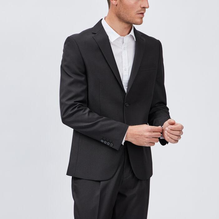 Veste droite boutonnée homme noir