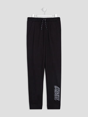 Pantalon jogging noir garcon