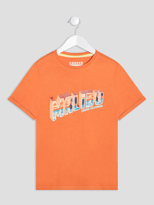 T shirt manches courtes Creeks orange garcon