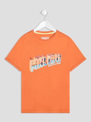 T shirt manches courtes Creeks orange garcon
