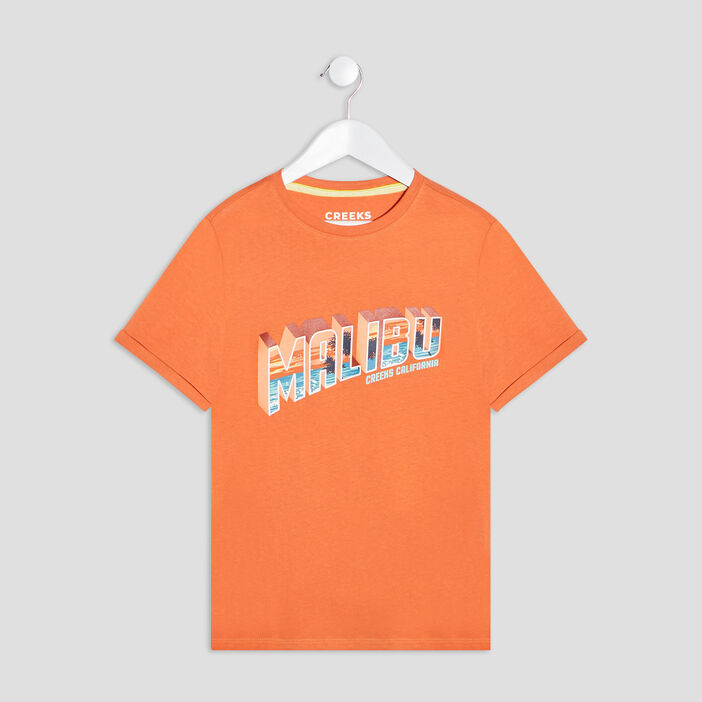 T-shirt manches courtes Creeks garçon orange