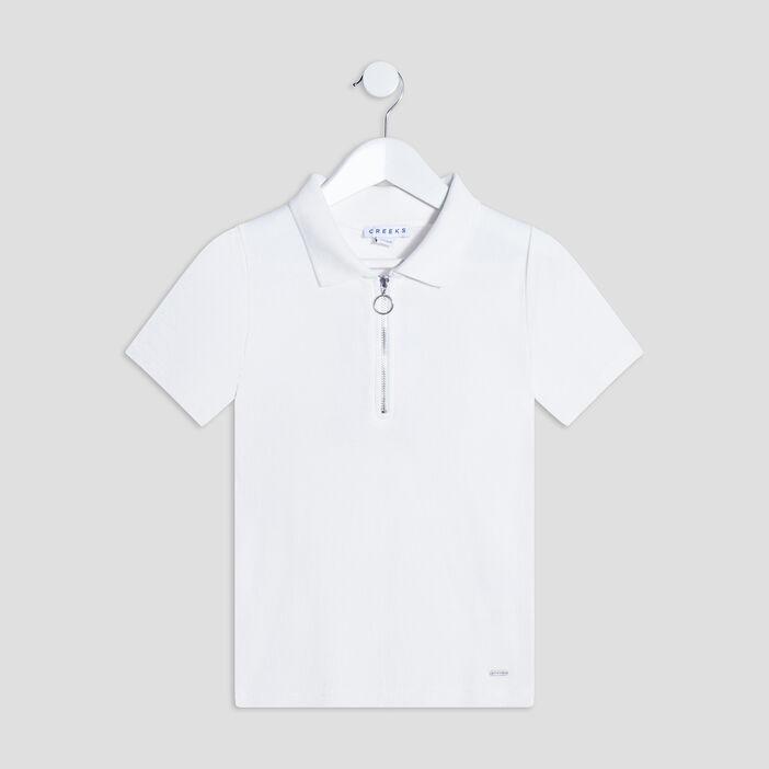 T-shirt manches courtes Creeks fille ecru