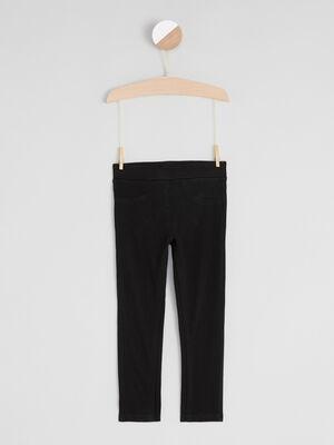 Pantalon tregging noir fille