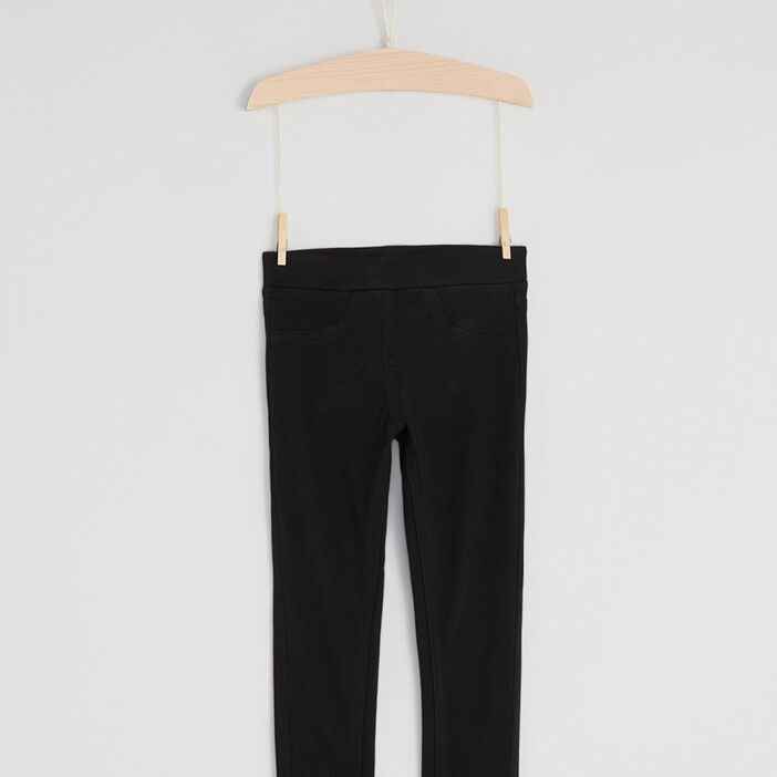 Pantalon tregging fille noir