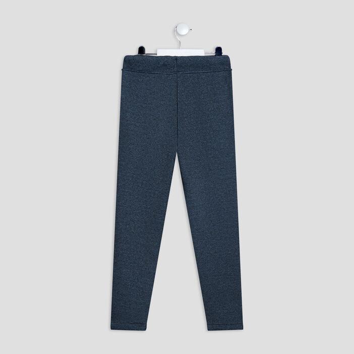 Pantalon jogging garçon bleu canard