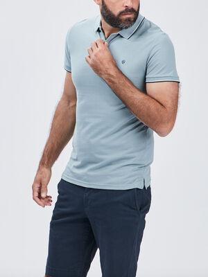 Polo manches courtes vert clair homme