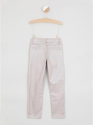 Pantalon droit uni rose clair fille