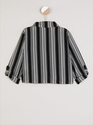 Chemise a motif avec poches noir fille