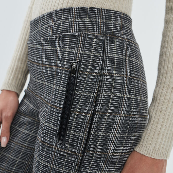 Pantalon legging femme gris foncé