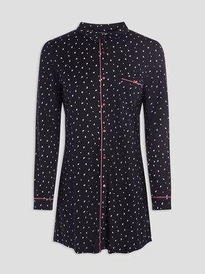 Chemise de nuit boutonnee prune femme