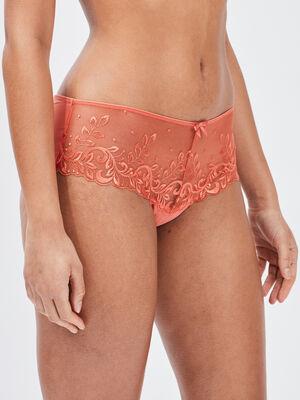Culotte boxer string orange femme