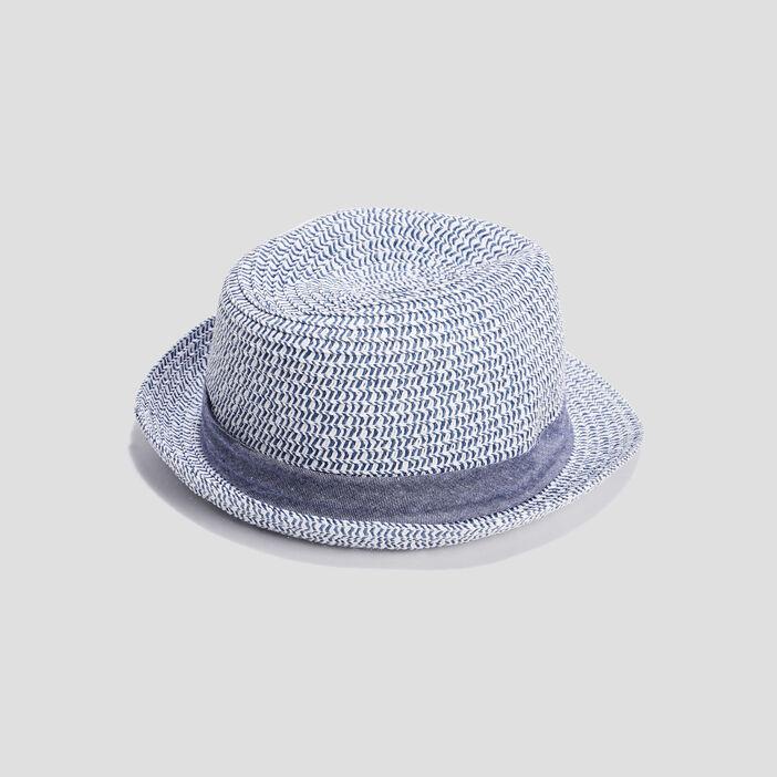 Chapeau borsa bébé garçon bleu