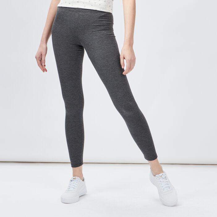 Legging taille standard femme gris foncé