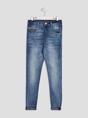 Jeans skinny Creeks denim double stone garcon