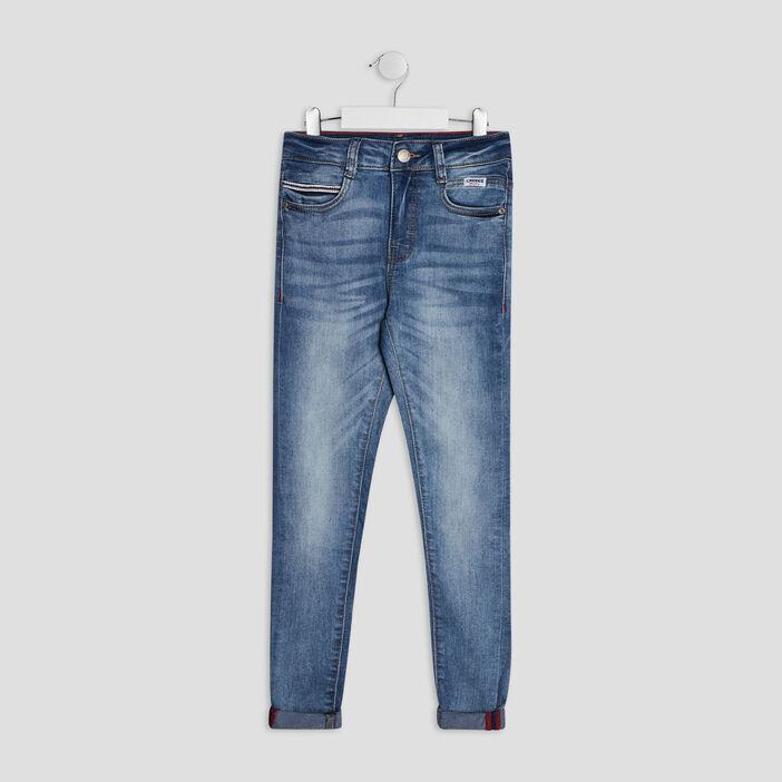 Jeans skinny Creeks garçon denim double stone
