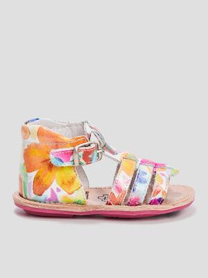 Sandales en cuir multicolore bebe