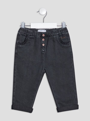 Pantalon slim gris fonce bebef