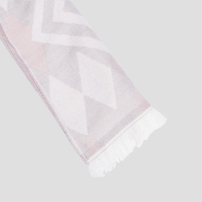 Écharpe à franges femme rose clair