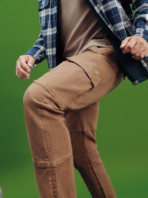 Pantalon cargo taupe homme